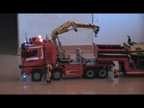 lego technic truck 8258 lkw tieflader trailer mit 8043. Black Bedroom Furniture Sets. Home Design Ideas