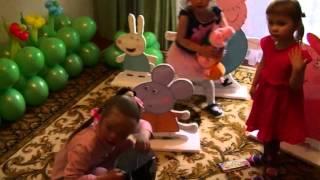 видео День рождения ребенка в стиле свинки Пеппы: идеи