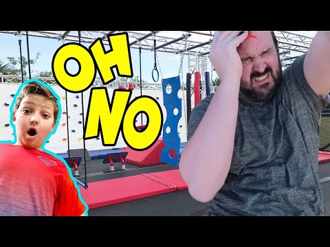 SCARY ACCIDENT on the ANDERSON NINJA WARRIOR course! DAD is REALLY hurt!