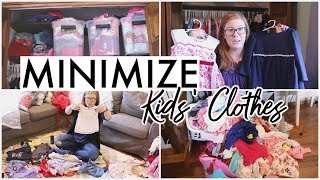I GOT RID OF 1/3 OF MY KIDS' CLOTHES! 🧺 | Minimize with Me + Kids' Clothes