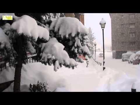 Efectes de la intensa nevada a Canillo