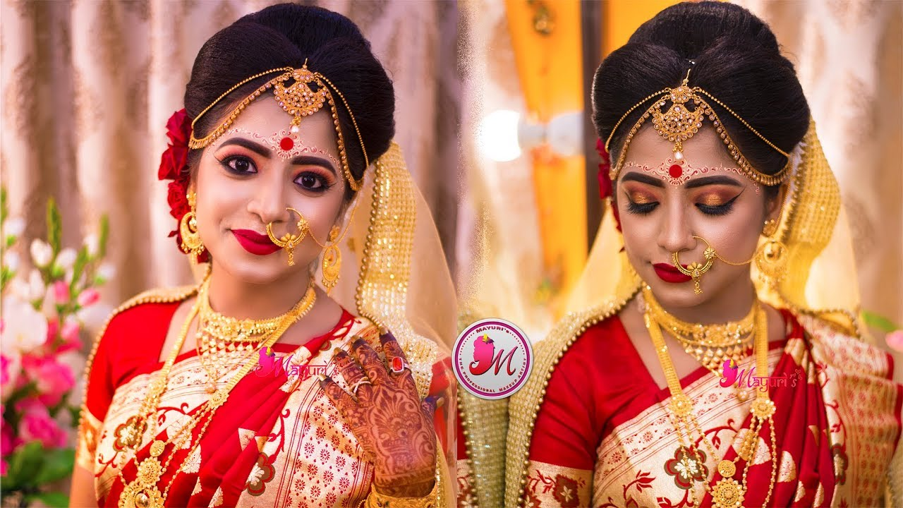 best indian bengali bridal makeup || step-by-step || mayuri sinha sarkar ||