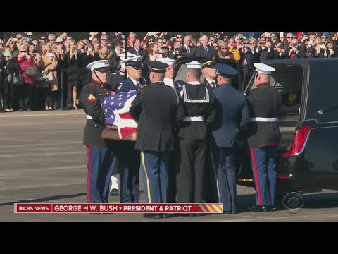 CBS News Special Report: Body Of George H.W. Bush Departs For Washington