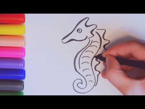 Как нарисовать морского конька поэтапно