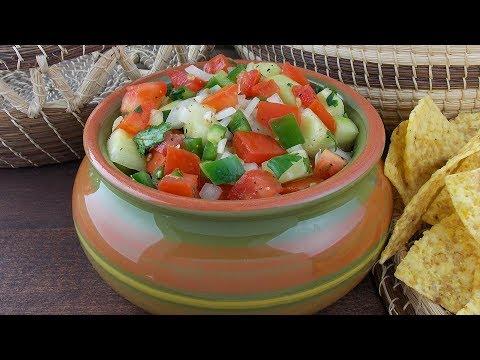 Spicy Cucumber Pico de Gallo