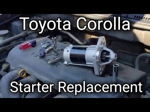 How to replace the starter in a 2003 2004 2005 2006 2007 2008 Toyota Corolla