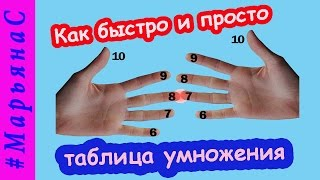 ℳ Как просто и быстро выучить таблицу умножения от 6 до 9, #МарьянаС