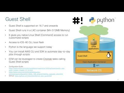 CSR1000V CloudNative Capability (GuestShell) on AWS - YouTube