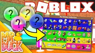 Roblox Work at a Pizza Place - CAPSULE UPDATE, BUYING ALL STICKERS!!
