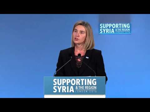 The High Representative Federica Mogherini addresses Supporting Syria Conference in London