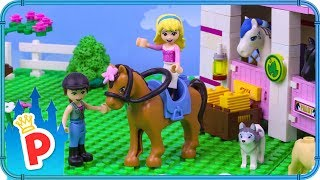 ♥ LEGO Helena Goes to RIDING SCHOOL to Learn How to Ride
