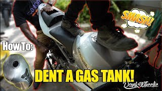 Stunt Tips : Denting A Gas Tank For Tricks!