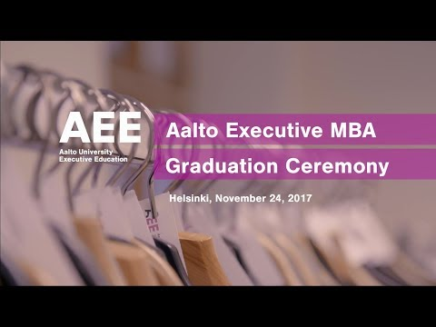 Aalto Executive MBA Graduation Ceremony on November 24, 2017