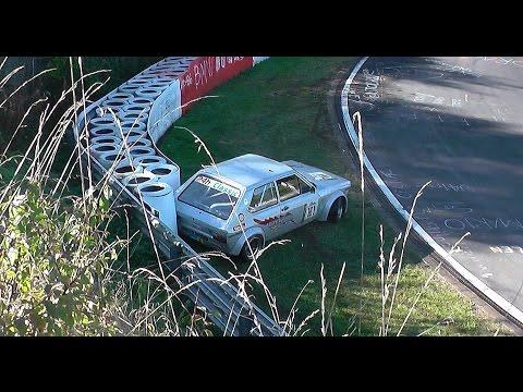 Nordschleife Crash/Unfall Audi 50 Nürburgring 16.10.2016 Youngtimer