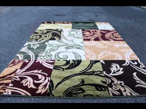 1798 Blue Green Multi Abstract Area Rugs Modern Greometric; modern abstract rugs, square area rugs