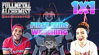 Fullmetal Alchemist Brotherhood 1x1 FIRST TIME WATCHING REACTION   Anime Eats