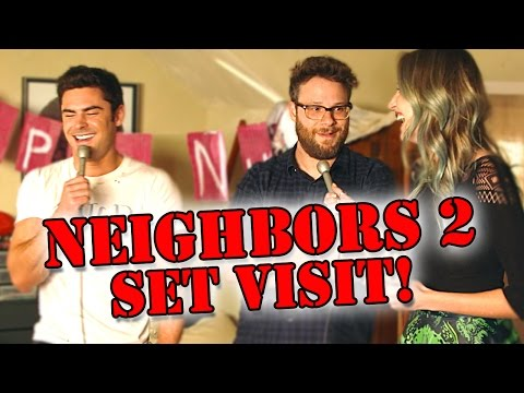 On Set with Neighbors 2: Sorority Rising Cast!