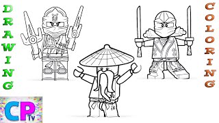 Ninjago Drawing and Coloring Pages,How to Color and Draw Loyd,Jay and Sensei,Super Speed Coloring