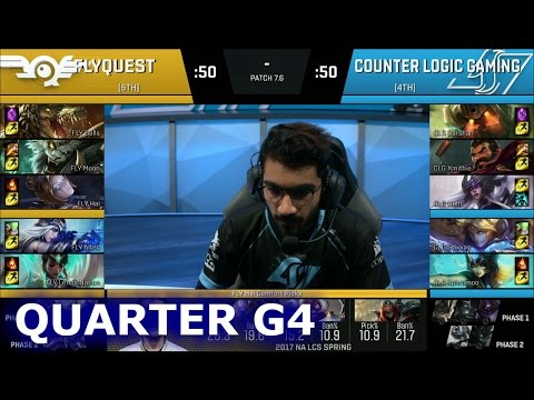 CLG vs FlyQuest Game 4 | Quarter Finals S7 NA LCS Spring 2017 PlayOffs | CLG vs FLY G4 QF 1080p