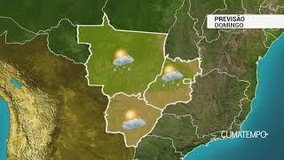 Previsão Centro-Oeste – Sol, calor e pancadas de chuva