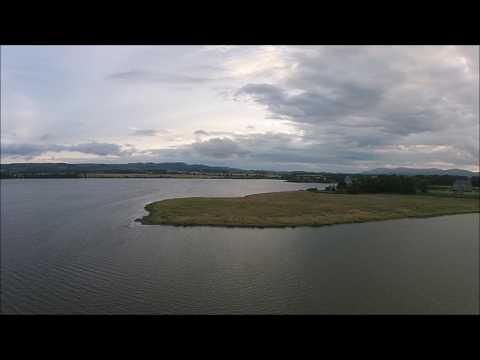 loch leven drone footage