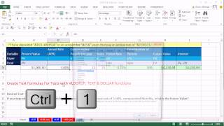 Excel Magic Trick 1140: VLOOKUP, TEXT & DOLLAR functions To Create Dynamic Finance Test Text Labels