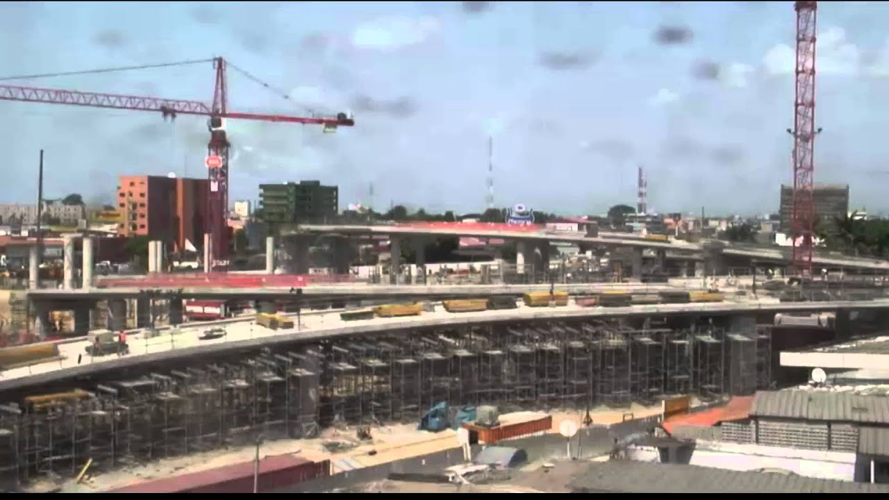 Construction de léchangeur vge à abidjan