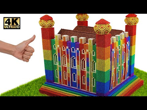 Asmr - How To Build Tower Of London From Magnetic Balls (Satisfying) | Magnet World Series