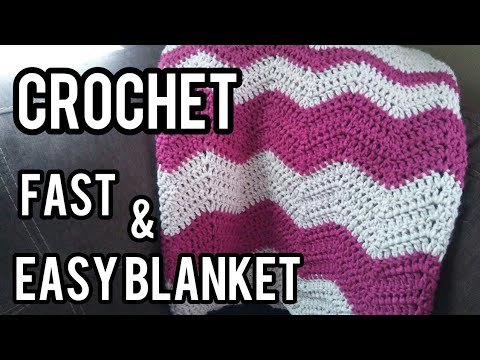 How To Crochet A Fast Easy Blanket Youtube