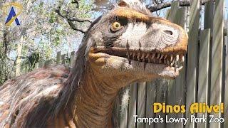 Dinos Alive! dinosaur exhibit at Tampa
