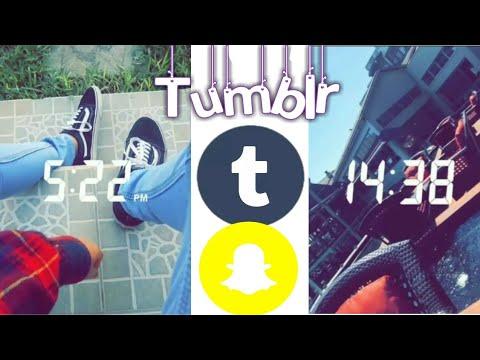 ✨Ideas para hacer tus fotos estilo tumblr en Snapchat .