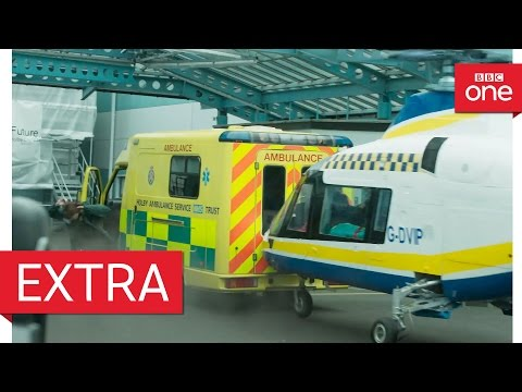 Behind the scenes of the helicopter crash - Casualty 30th Anniversary - BBC One
