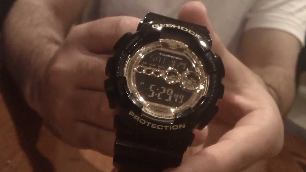 G-Shock Black Resin Strap GD100GB-1 Review - YouTube