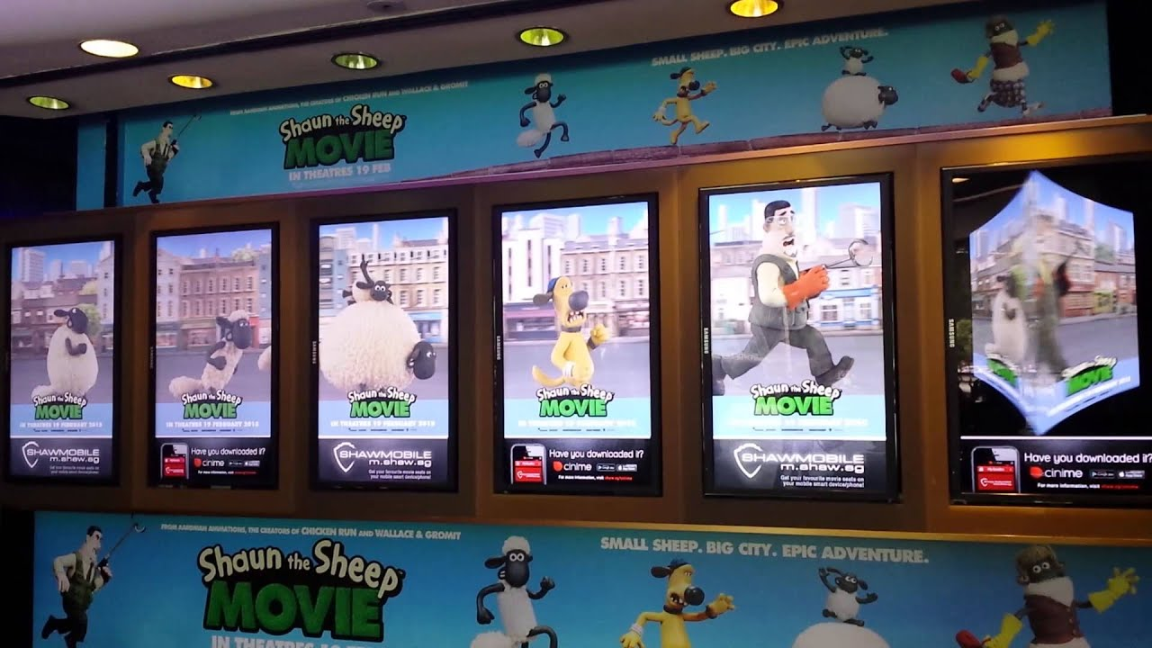 shaw theatres lido level 1 x6 digital poster boards youtube