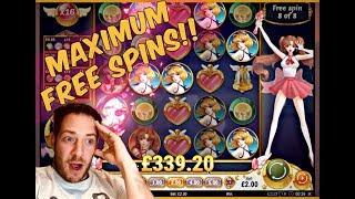 MEGA MOON PRINCESS WIN!! Max Free Spins! ( Online Casino Slots )