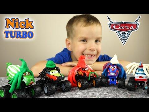 Машинки Monster Trucks из мультика Байки Мэтра Lightning McQueen, Мэтр  и др. Cars Toon Disney/Pixar