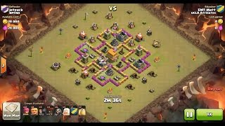 Clash of Clans TH6 vs TH6 Giant, Wizard, Healer & Balloon (GiWiHeLoon) Clan War 3 Star Attack