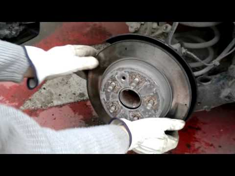 ч.4 Замена передних и задних тормозных дисков на шевроле круз ч.4