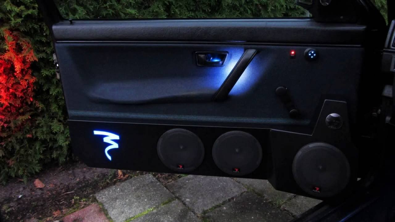 Car Led Light Door Panels Courtesy Light Speakers Pods