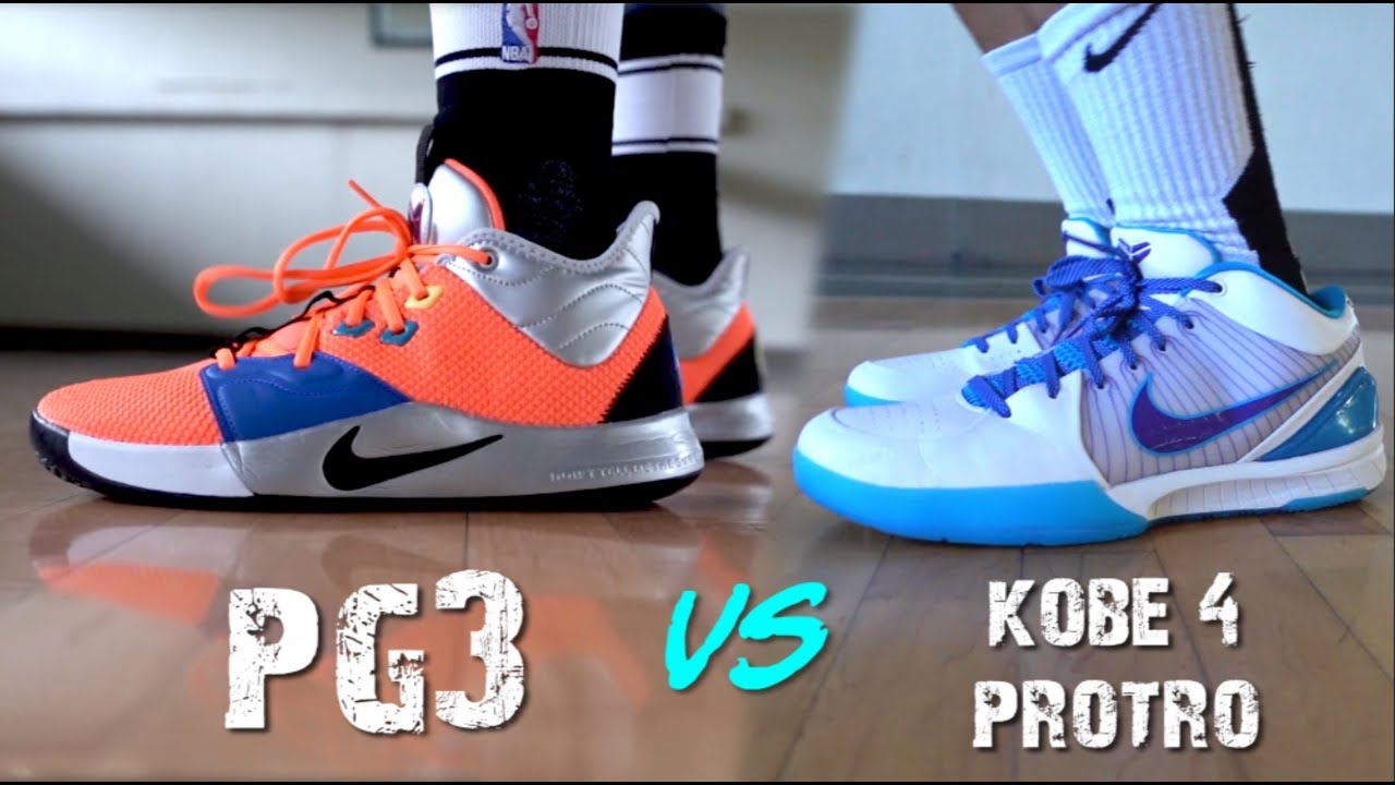 94c2584c10a2 Is the KOBE 4 PROTRO or PG3 better  - YouTube