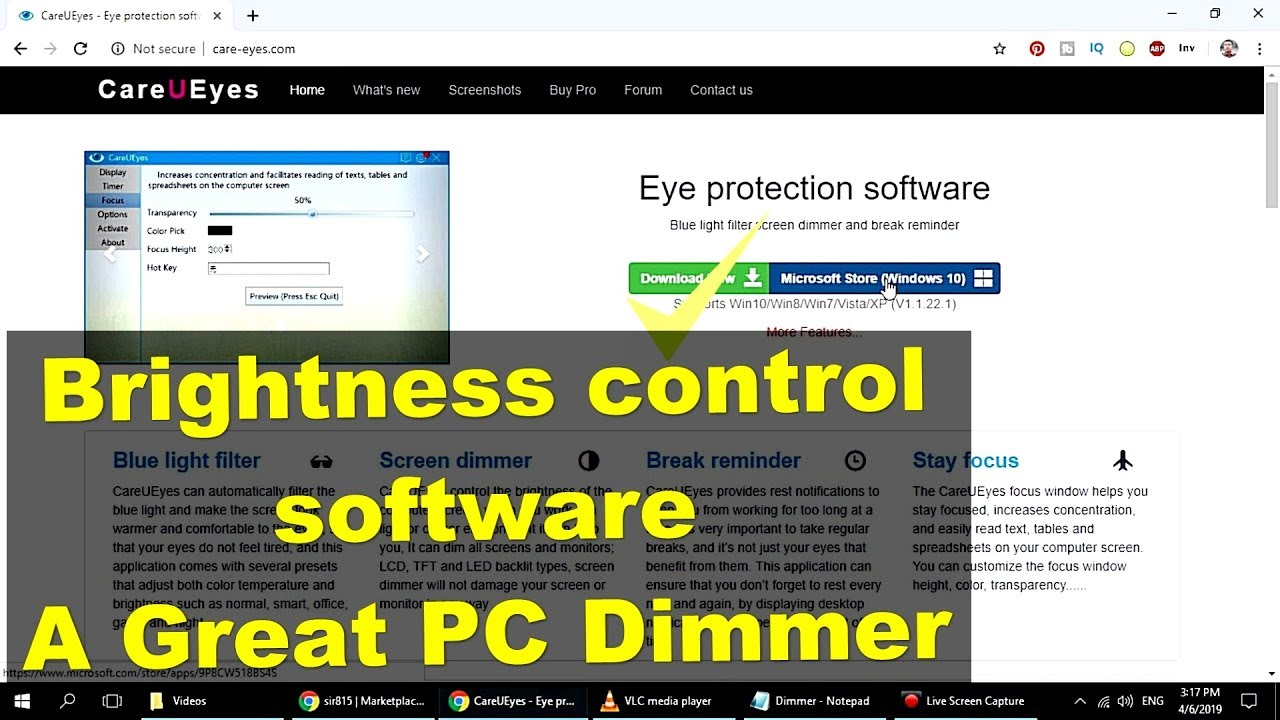 CareUEyes   How To Dim Your Monitor