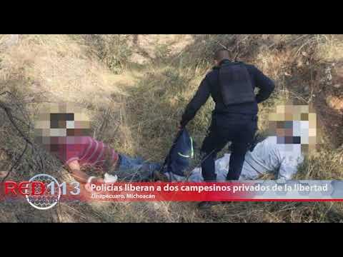 VIDEO Policías liberan a dos campesinos que estaban privados de la libertad en Zinapécuaro