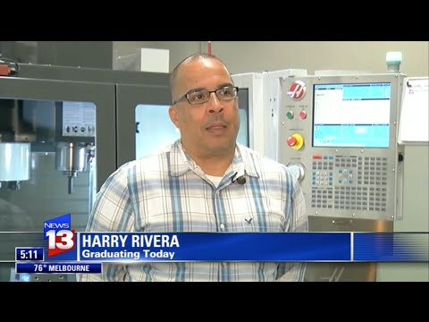 Training Workers for Florida's High-tech Manufacturing Jobs - Valencia College (credit: News 13)