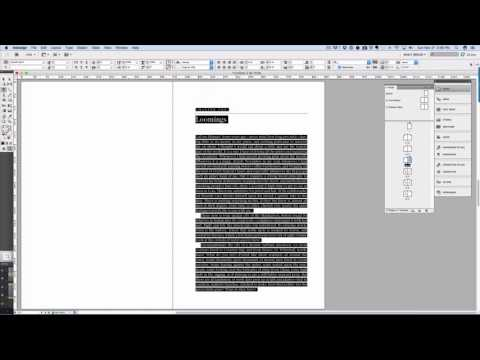 InDesign Book Template Formatting How To Video