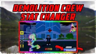 Roblox: Demolition Crew STAT CHANGER/INFINITE LEVELS OP