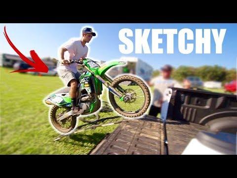 SKETCHY Dirt Bike Ramp Load... & Raw 2 Stroke