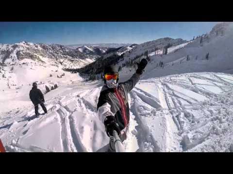 Snowboarding Park City And Snowbird   Utah 2014-2015   GoPro Hero 4 Silver