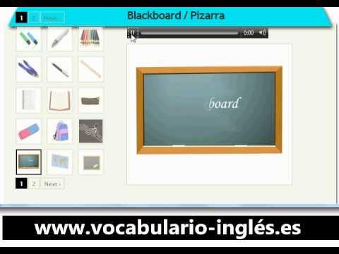 Vocabulario De Ingles En La Escuela Http Www Facile Anglais Com Youtube