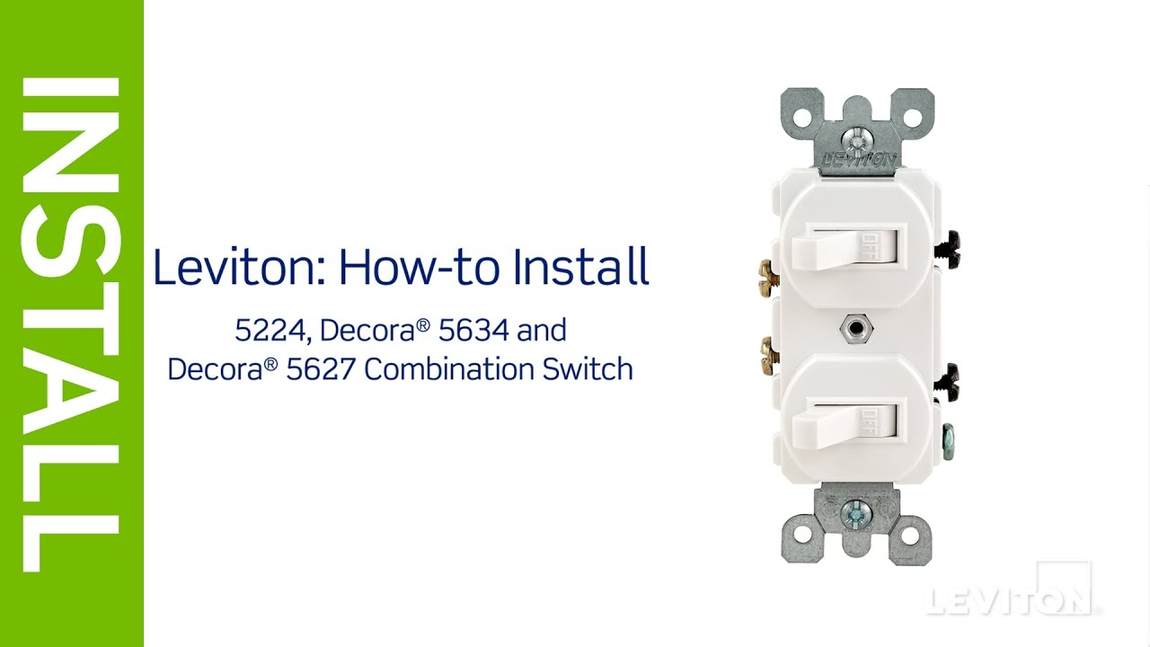 leviton presents how to install a combination device with two rh youtube com Leviton Decora 3-Way Switch Wiring Diagram Leviton Switches Installation Diagram