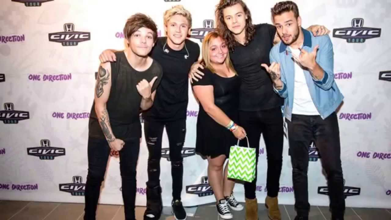 My meet and greet with one direction the audio is me and them